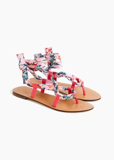 J.Crew Wrap-around sandals in Liberty® floral