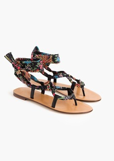 J.Crew Wrap-around sandals in paisley