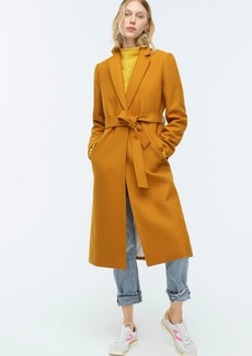 J.Crew Wrap coat in double-serge wool