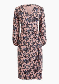 J.Crew Petite wrap dress in 365 crepe blush bouquet