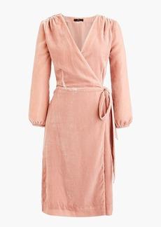 J.Crew Wrap dress in drapey velvet