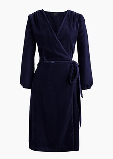 J.Crew Wrap dress in drapey velvet