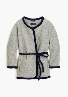 J.Crew Wrap jacket in boiled wool