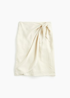 Wrap skirt in Japanese cupro