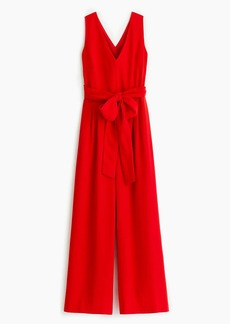 J.Crew Wrap-tie jumpsuit in everyday crepe