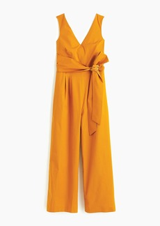 J.Crew Wrap-tie jumpsuit in stretch poplin