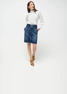 J.Crew Yoke-front skirt in rigid denim