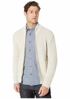J.Crew Zip-Up Mockneck Sweater in Waffle Cotton