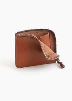 J.Crew Zipper wallet in Italian leather