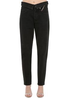 Jean Atelier High Waist Straight Cotton Denim Jeans