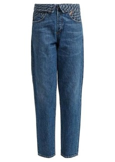Jean Atelier Flip fold-over embroidered jeans