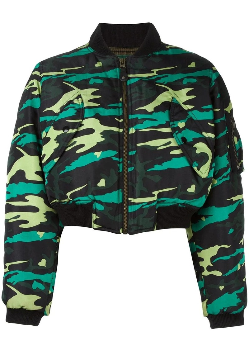 Jean Paul Gaultier army bomber jacket