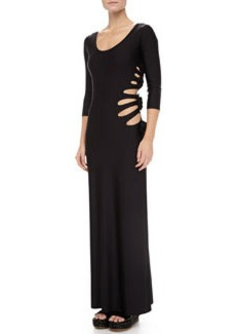 Jean Paul Gaultier Cutouts W/Flower-Detail Maxi Dress   Cutouts W/Flower-Detail Maxi Dress