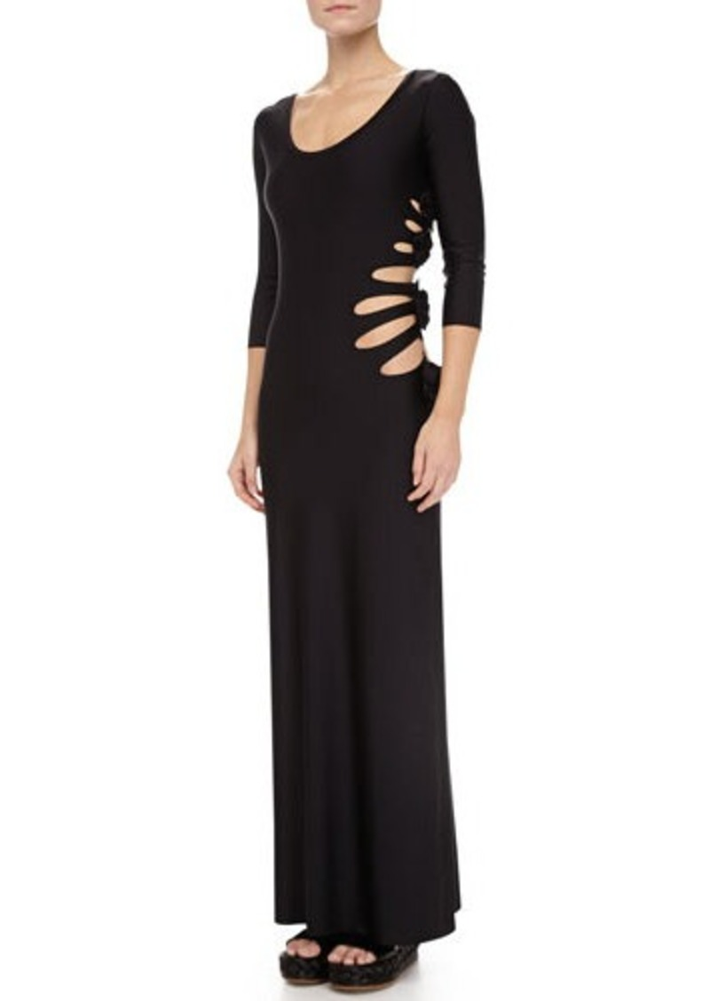 Jean Paul Gaultier Cutouts W/Flower-Detail Maxi Dress