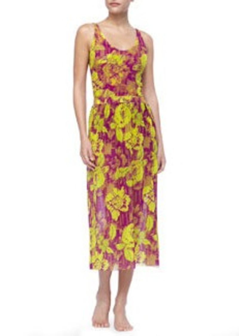 Jean Paul Gaultier Floral-Print Chiffon Skirt