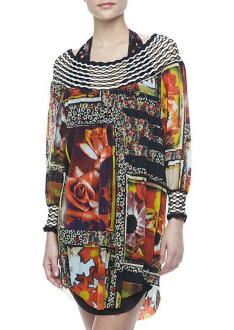 Jean Paul Gaultier Floral-Print Long-Sleeve Coverup, 245 Caracas