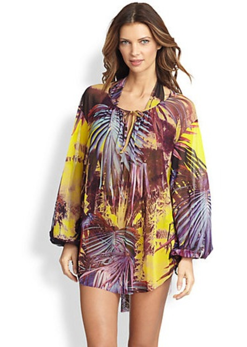 Jean Paul Gaultier Palm-Print Coverup
