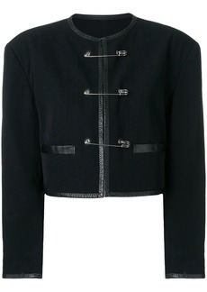 Jean Paul Gaultier Safety pins cropped jacket
