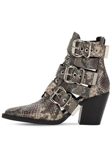 Jeffrey Campbell 90mm Python Print Leather Boots