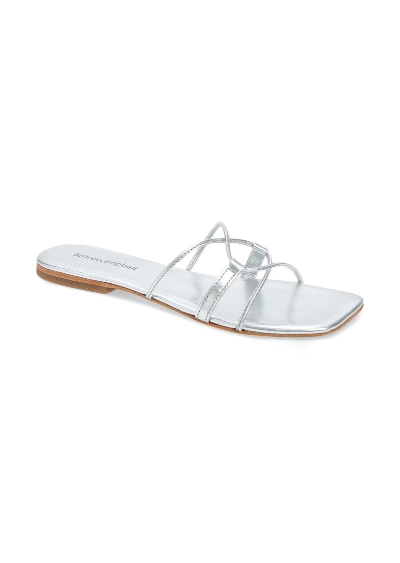 Jeffrey Campbell Addison Square Toe Slide Sandal (Women)