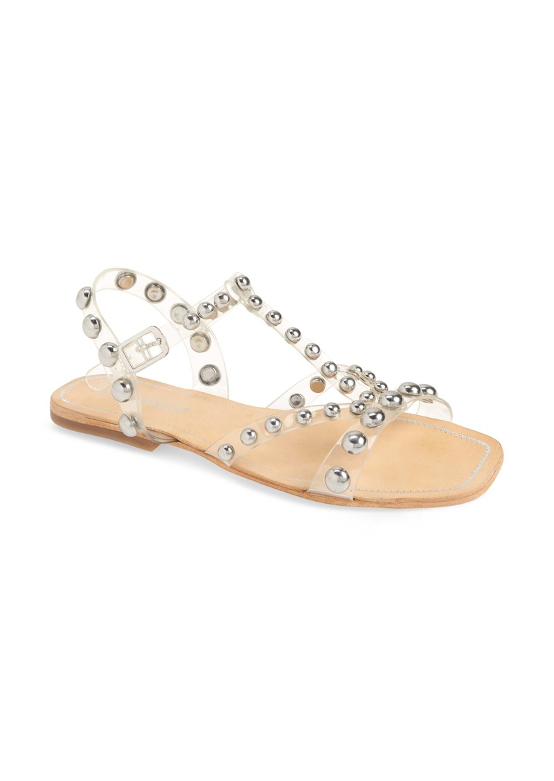 Jeffrey Campbell Amaryl Studded Clear Sandal (Women)