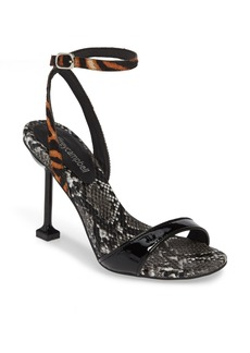 Jeffrey Campbell Angelic Genuine Calf Hair Ankle Strap Sandal (Women)