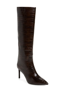 Jeffrey Campbell Arsen Pointed Toe Knee High Boot (Women) (Wide Calf)