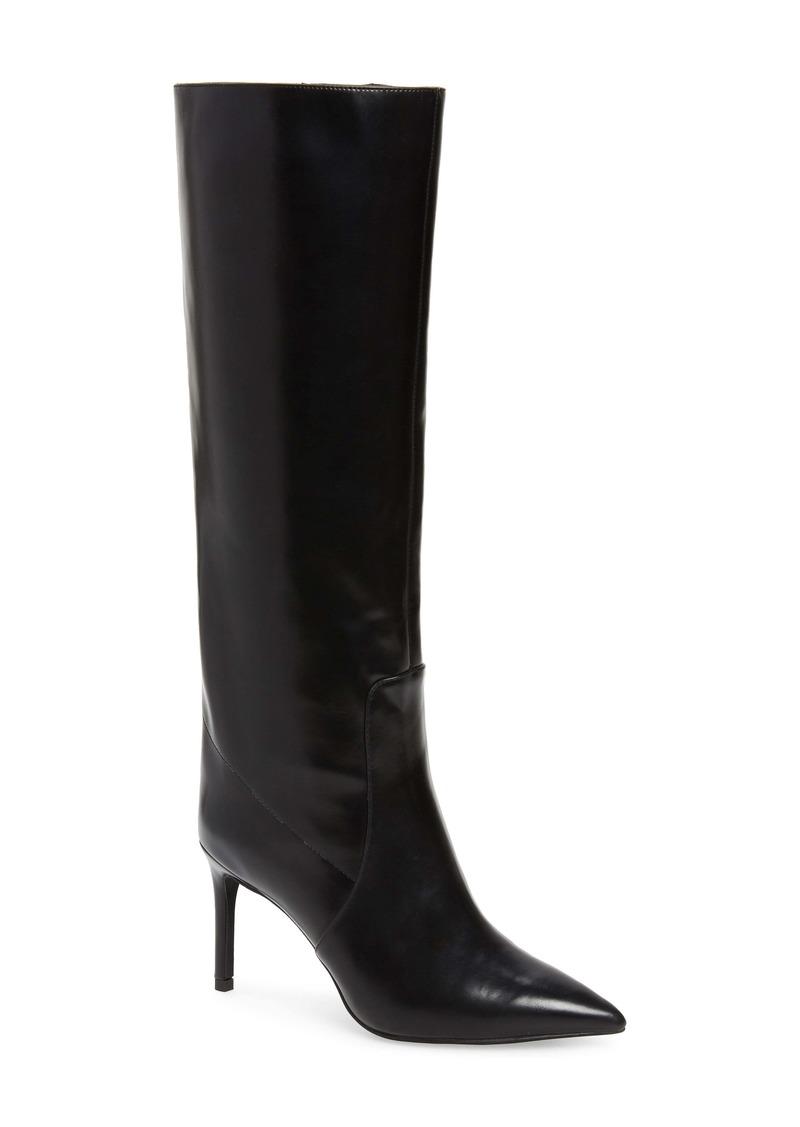 Jeffrey Campbell Arsen Pointed Toe Knee High Boot (Women) (Wide Calf)
