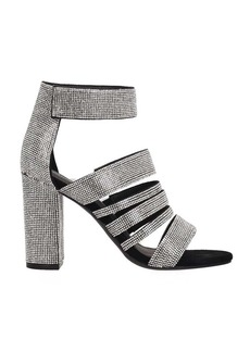 Jeffrey Campbell Black-silver Fabric Sandals