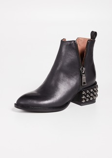 Jeffrey Campbell Boone Studded Heel Zip Booties