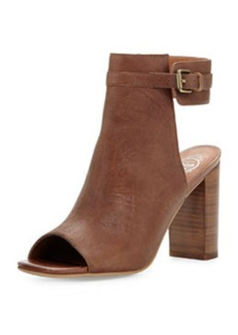 jeffrey campbell jeffrey campbell canal leather peep toe bootie tan shoes shop it to me. Black Bedroom Furniture Sets. Home Design Ideas