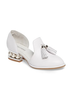 Jeffrey Campbell 'Civil' Pearly Heeled Beaded Tassel Loafer (Women)