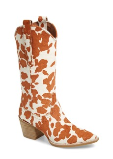 Jeffrey Campbell Dagget Genuine Calf Hair Western Boot (Women)