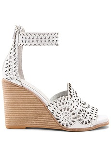 Jeffrey Campbell Del Sol H Wedge in White. - size 10 (also in 8.5,9,9.5)
