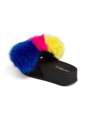 f48a6350c7eb Jeffrey Campbell Jeffrey Campbell Edie Pom Faux Fur Slide Wedge ...