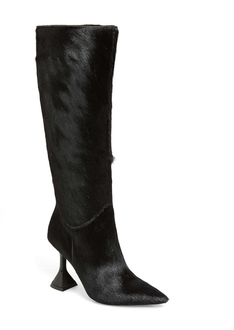 Jeffrey Campbell Entity Genuine Calf Hair Knee High Boot (Women)