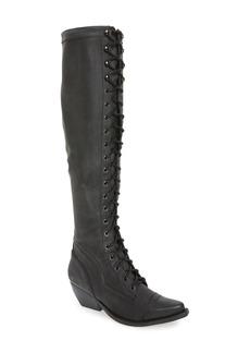 Jeffrey Campbell Erlene Knee High Lace-Up Boot (Women)