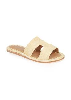 Jeffrey Campbell Ernon Raffia Slide Sandal (Women)