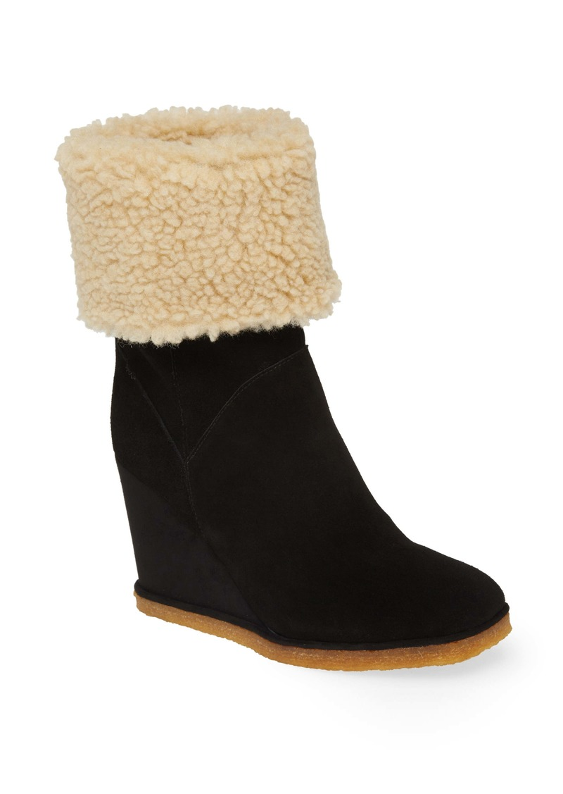 Jeffrey Campbell Faux Shearling Wedge Boot (Women)
