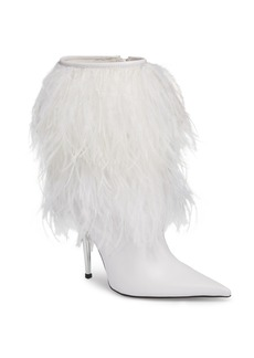 Jeffrey Campbell Fly4U Ostrich Feather Bootie (Women)