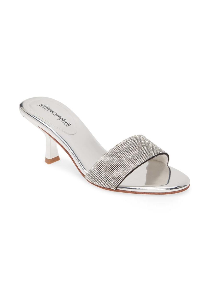 Jeffrey Campbell Glitzed Crystal Slip-On Sandal (Women)