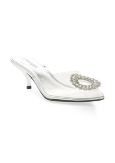 Jeffrey Campbell Jena Embellished Clear Pump (Women)
