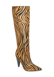 Jeffrey Campbell Labyrinth Genuine Calf Hair Knee High Boot (Women)