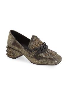 Jeffrey Campbell 'Loreen' Studded Block Heel Loafer (Women)