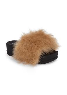 Jeffrey Campbell Lucky Me Faux Fur Flatform Slide (Women)