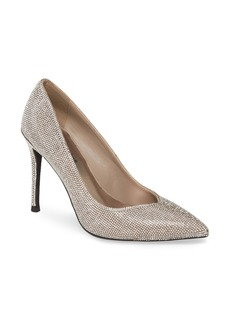 Jeffrey Campbell Lure-JS Crystal Embellished Pointed Toe Pump (Women)