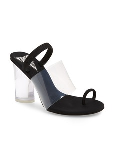 Jeffrey Campbell Mania Clear Toe Loop Sandal (Women)