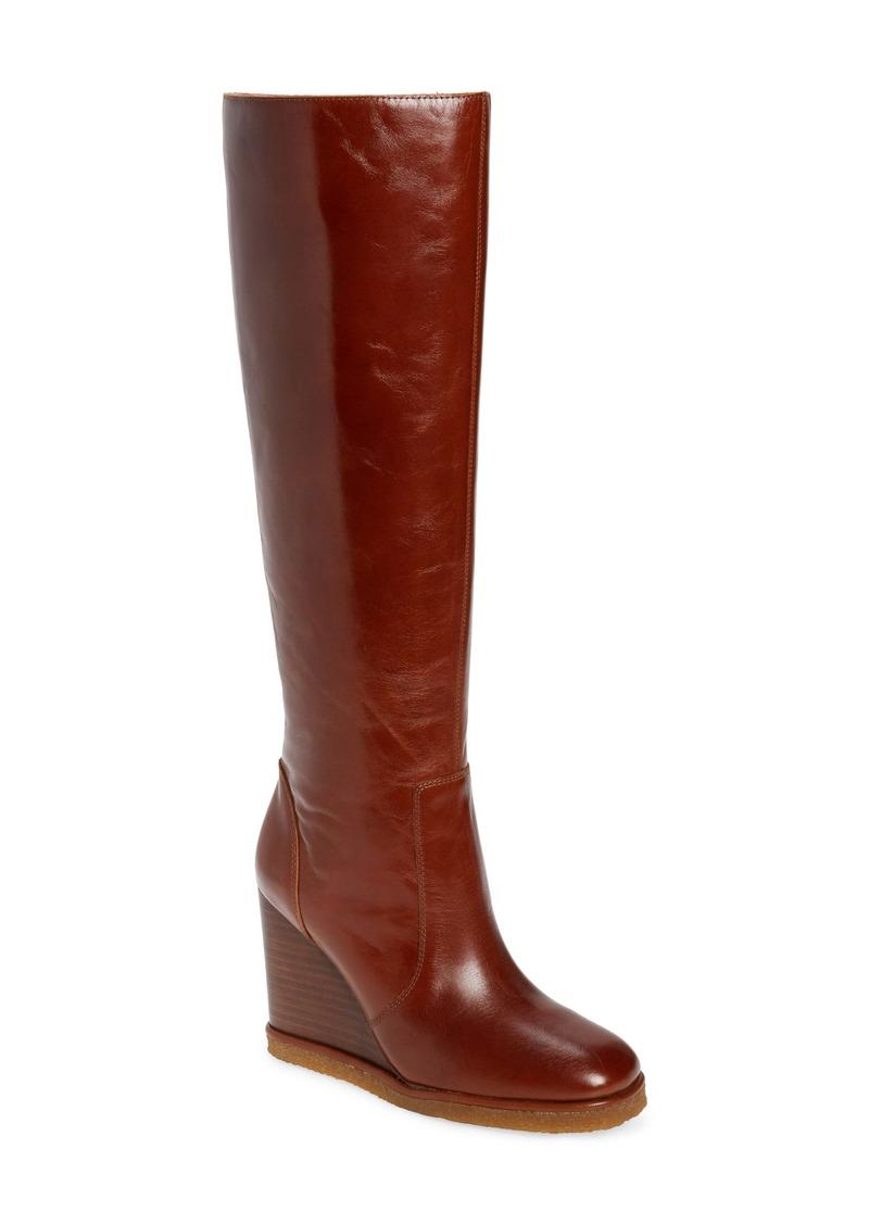 Jeffrey Campbell Melongena Knee High Wedge Boot (Women)