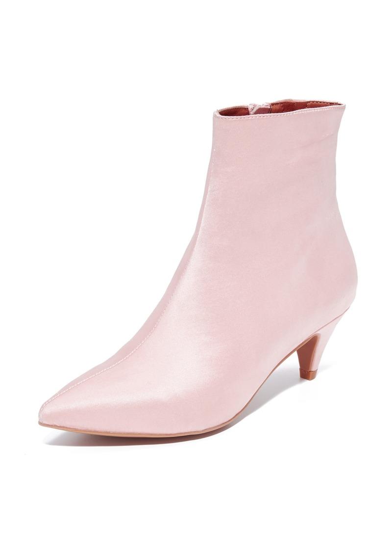 c3e7440fb1 Jeffrey Campbell Jeffrey Campbell Muse Satin Kitten Heel Booties | Shoes