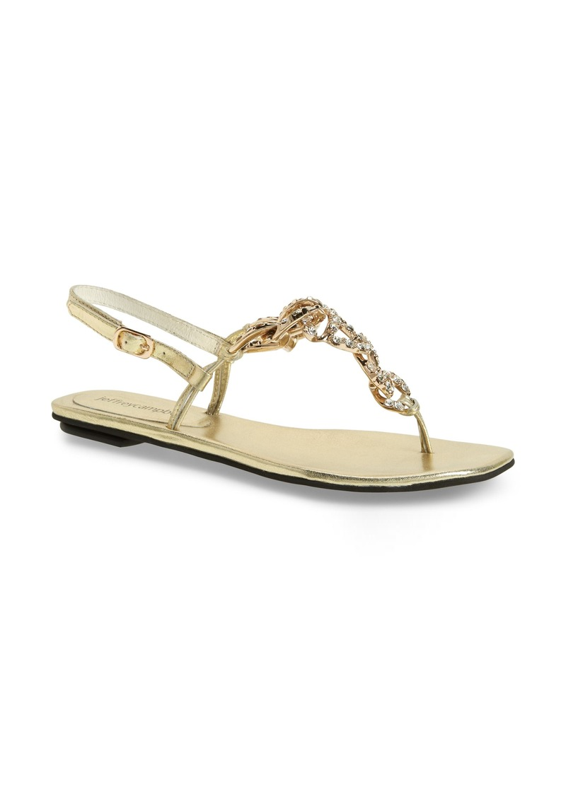 Jeffrey Campbell New Chain Crystal Embellished Sandal (Women)